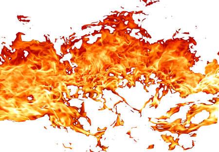 fuoco su sfondo bianco