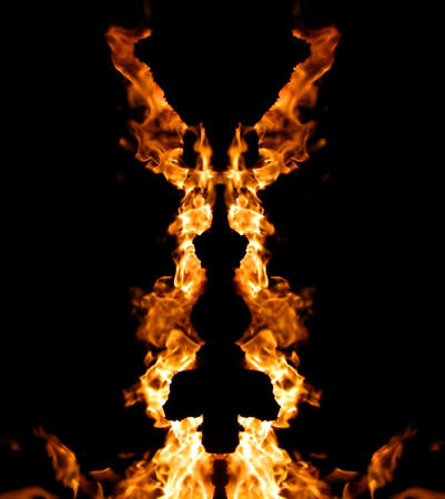 decorative figure from fire photo