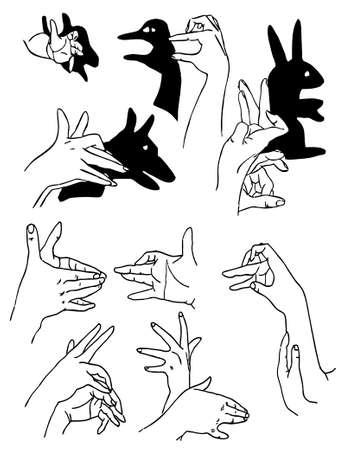 figures made hand Stock Vector - 6240608