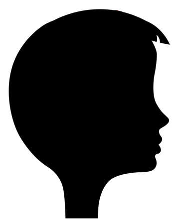 vector silhouette of the head of the girl Stock Vector - 6240513