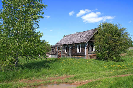 penal institution:  old wooden house