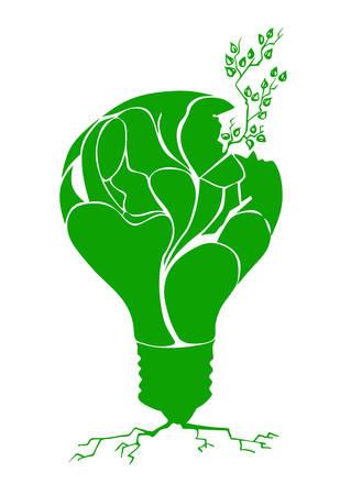 splinter: plant in light bulb Illustration