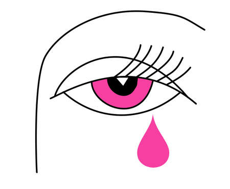 drawing of the eye of the woman Stock Vector - 7038393