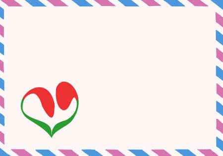 illustration of the postal envelope Vector