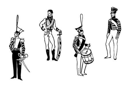grenadier: illustration officers to old army