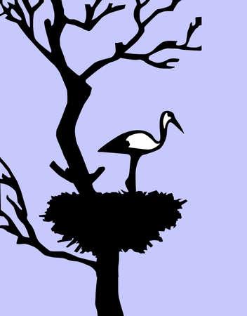 illustration of the crane in jack illustration