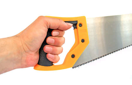 hand keeps saw Stock Photo - 7657283