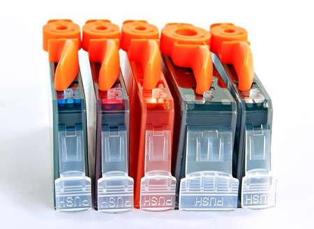 inkjet printer: new cartridge Stock Photo