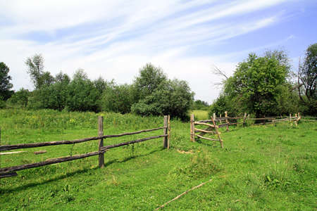 farm structure: old fence Stock Photo