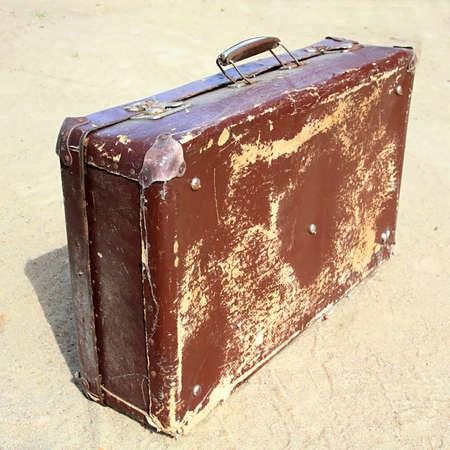 valise: old valise Stock Photo