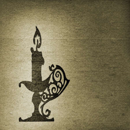 candlestick: grunge background