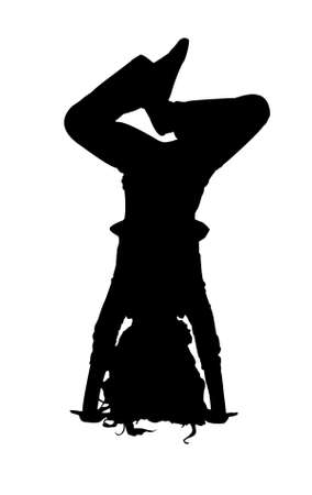 silhouette of the girl Vector