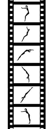 somersault: camera film Illustration