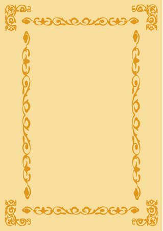 decorative frame on brown background Vector