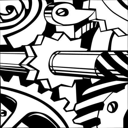 illustration of the mechanism on white background Stock Vector - 7735210