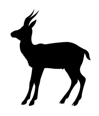 illustration mountain sawhorse on white background