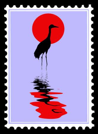 postage stamps: postage stamps Illustration
