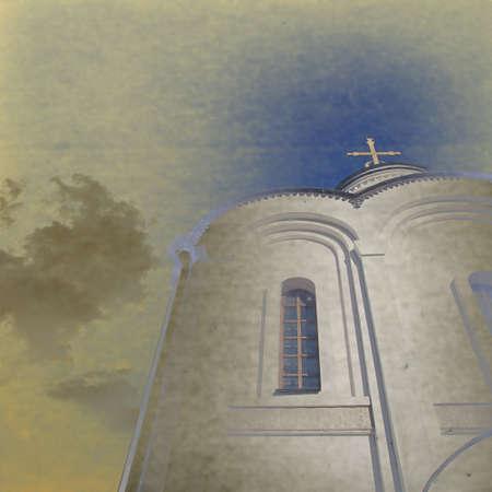 orthodox church: grunge  background