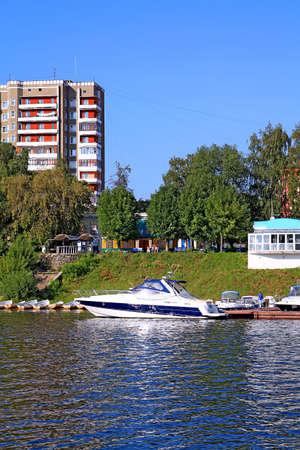 motorboat on quay photo