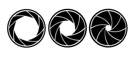 diaframma: silhouette del diaframma su sfondo bianco