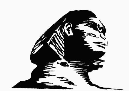 esfinge: Ilustraci�n de la Esfinge  Vectores