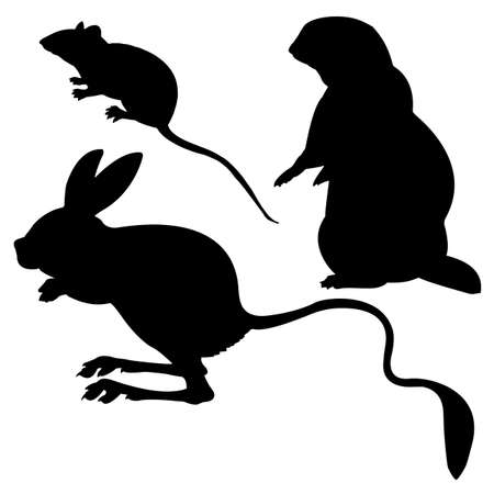 silhouettes animal on white background Vector