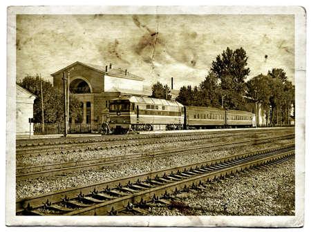 estacion tren: Fotograf�a de envejecimiento