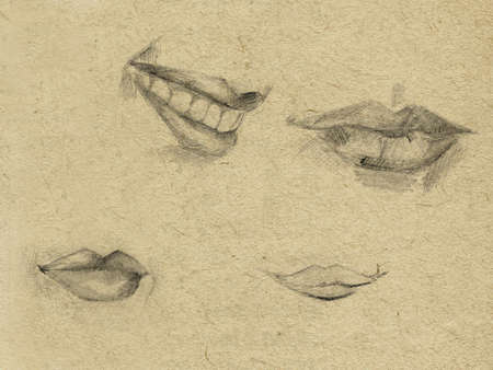 paperboard: pencil drawing on paperboard Stock Photo