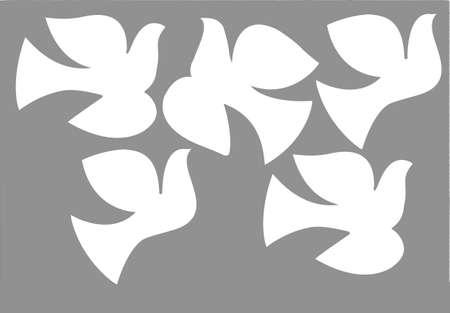 contour: illustration dove