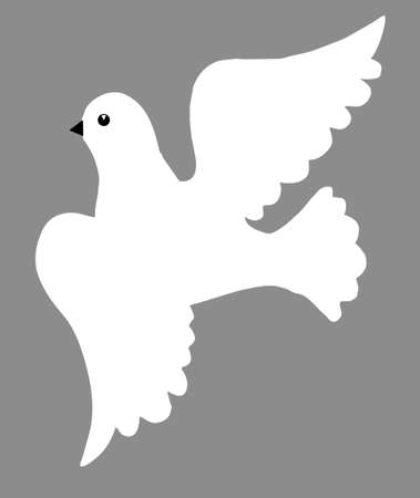 illustration of the dove  Vector