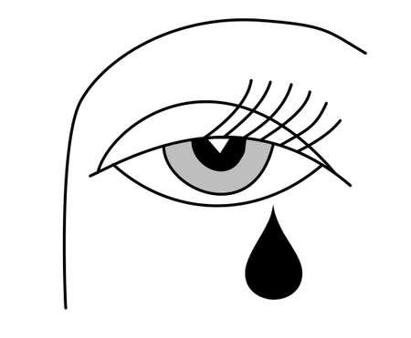 larmes: Illustration de le ?il de la sorci�re Illustration
