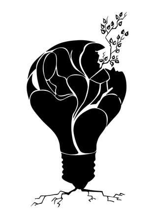 splinter: drawing plant in light bulb