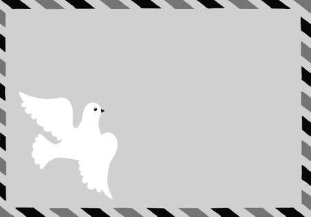 embedding: illustration of the postal envelope with dove