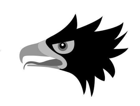 drawing head of the ravenous bird Vector