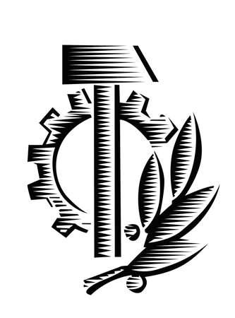 socialist: vector socialist symbol Illustration