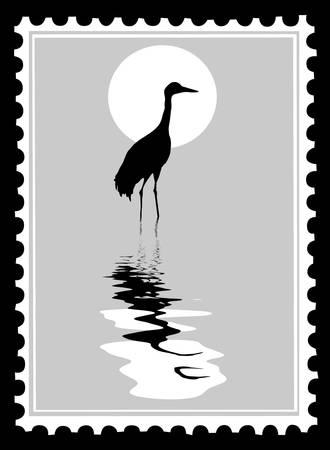 sellos de correos de vector