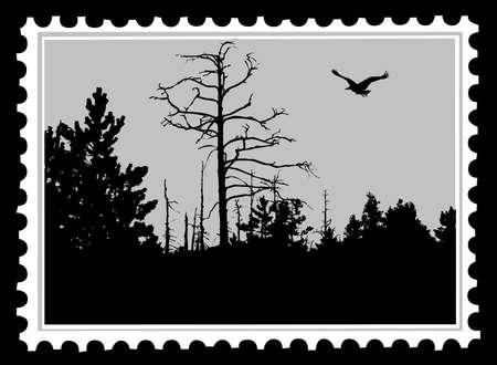 sellos de correos de vector Ilustración de vector