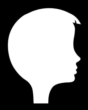 vector silhouette of the head of the girl Vector