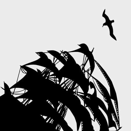 vector illustration of the sail  Illustration