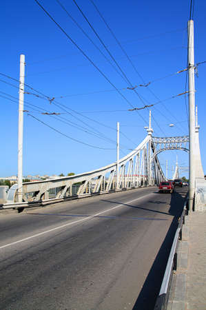 river county: town car bridge through river