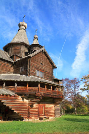 aging orthodox chapel in village photo