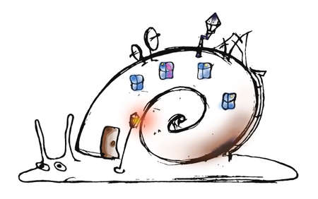 illustration of the snail on white background illustration