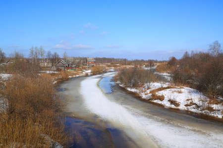 ice on river  photo