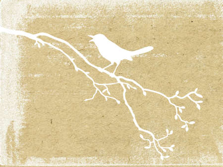 grunge tree: vector grunge background Illustration