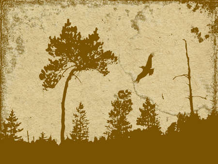 spoiled frame: vector grunge background Illustration