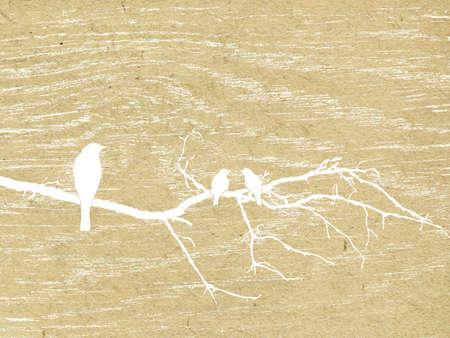 water bird:  grunge background Illustration