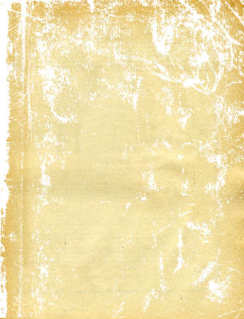 spoil: texture of the old sheet of the yellow paper