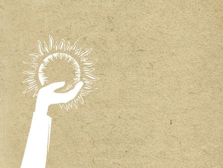 vieze handen: grunge achtergrond