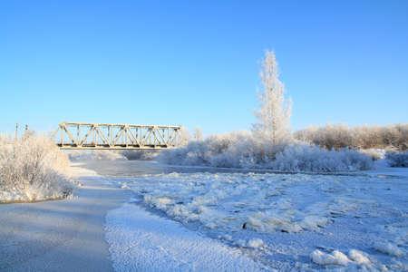 freeze river Stock Photo - 8546759