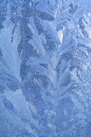 dilute: blue ice on winter window